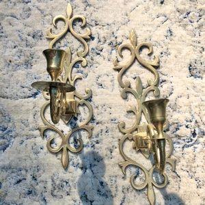 VTG Brass Candle Stick Holders ✨